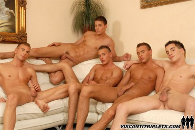 Visconti Triplets Hard on Couch